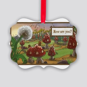 Dandelion Greeting Picture Ornament