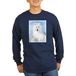 Samoyed Puppy Long Sleeve Dark T-Shirt