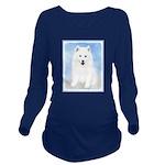 Samoyed Puppy Long Sleeve Maternity T-Shirt