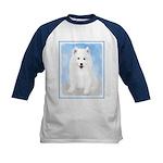 Samoyed Puppy Kids Baseball Tee