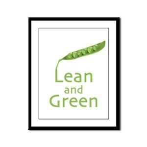 Lean and Green Framed Panel Print
