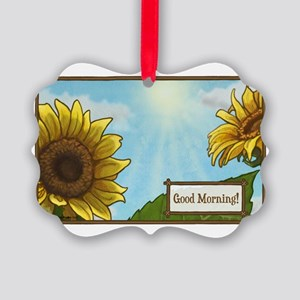 Daisy Greeting Picture Ornament