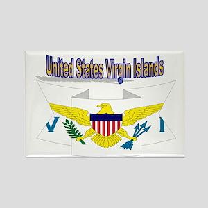 us virgin islands ribbon Rectangle Magnet