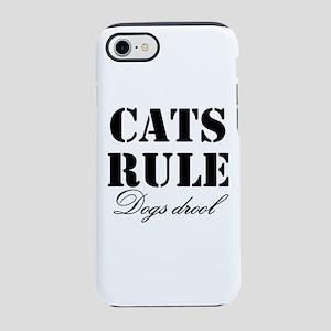 CatsRuleDogsDrool iPhone 8/7 Tough Case