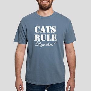 CatsRuleDogsDrool Mens Comfort Colors Shirt