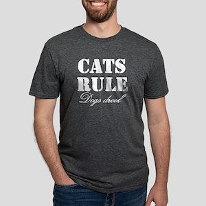 CatsRuleDogsDrool Mens Tri-blend T-Shirt