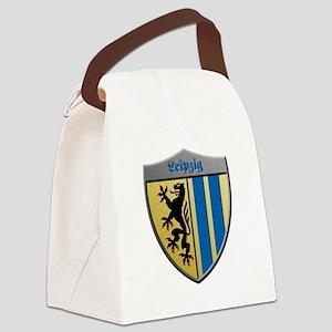 Leipzig Germany Metallic Shield Canvas Lunch Bag