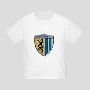 Leipzig Germany Metallic Shield T-Shirt