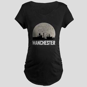 Manchester Full Moon Skyline Maternity T-Shirt