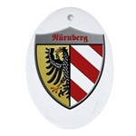 Nuremberg Germany Metallic Shield Ornament (Oval)