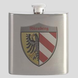 Nuremberg Germany Metallic Shield Flask