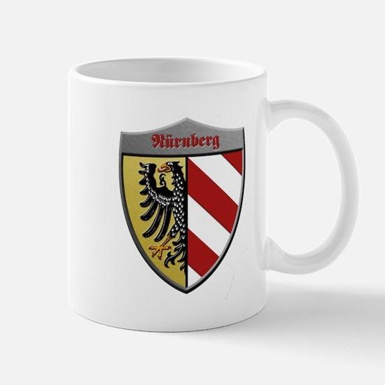 Nuremberg Germany Metallic Shield Mugs