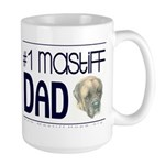#1 Mastiff Dad Large Mug