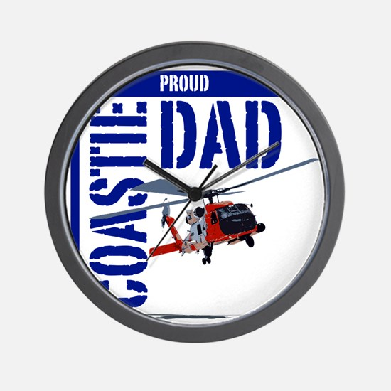 Love my Coastie - Proud Dad - Helo Wall Clock