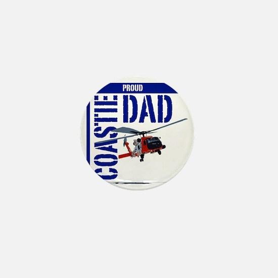 Love my Coastie - Proud Dad - Helo Mini Button