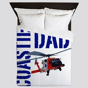 Love my Coastie - Proud Dad - Helo Queen Duvet