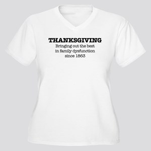 Thanksgiving Defi Women's Plus Size V-Neck T-Shirt