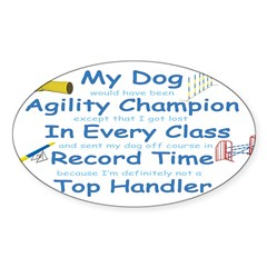 Agility Champion Oval Decal