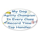 Agility Champion Oval Sticker