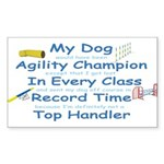 Agility Champion Rectangle Sticker