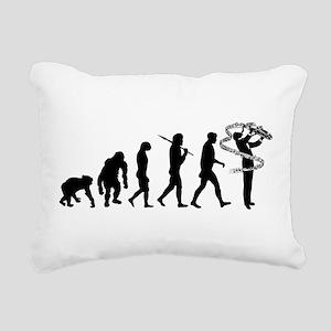 Saxophone Player Rectangular Canvas Pillow