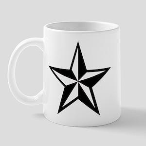 White Nauticle Star Punk Rock Mug OI