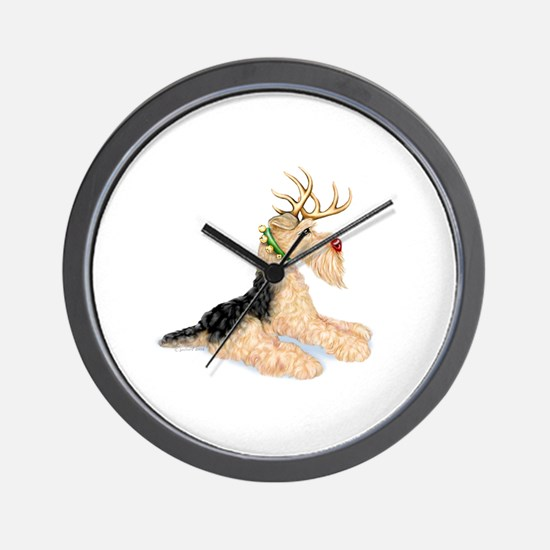 Airedale Christmas Dale Deer Wall Clock