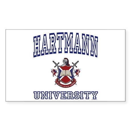 HARTMANN University Rectangle Sticker