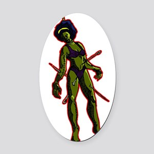 Voodoo doll 2 Oval Car Magnet
