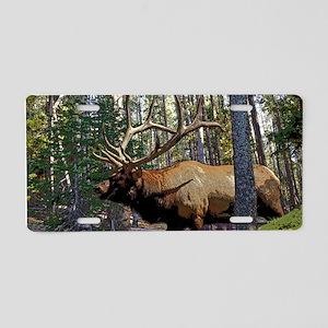 Bell Elk 3 Aluminum License Plate