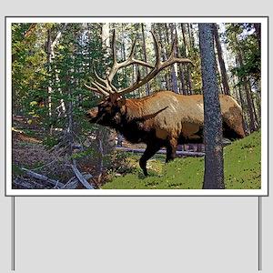 Bell Elk 3 Yard Sign