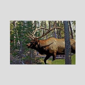 Bell Elk 3 Rectangle Magnet