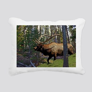 Bell Elk 3 Rectangular Canvas Pillow