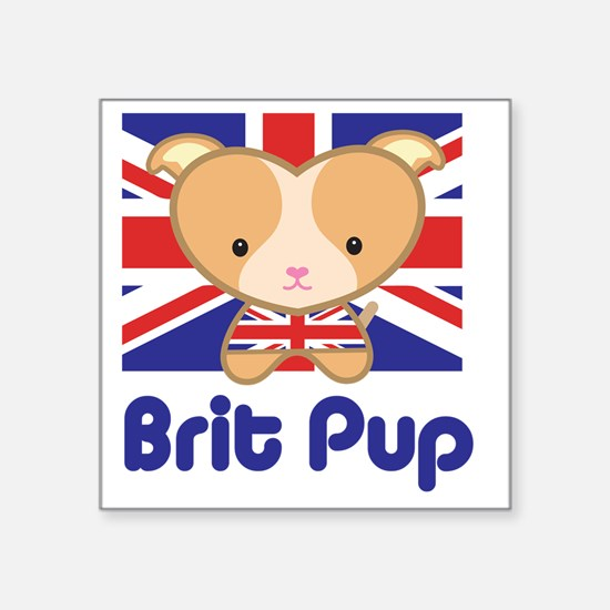 Brit pup t shirt square sticker 3