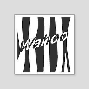"Wahoo Stripe Mod Square Sticker 3"" x 3"""