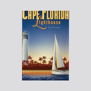 Cape Florida Travel Poster Large Rectangle Magnet