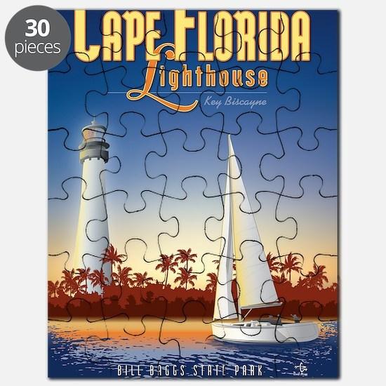 Cape Florida Travel Poster Mini Puzzle