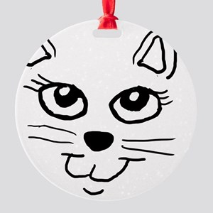 Cat face Round Ornament