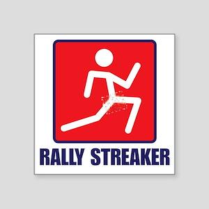 "Rally Streaker Square Sticker 3"" x 3"""