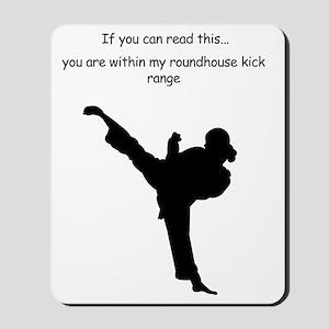 roundhouse kick Mousepad