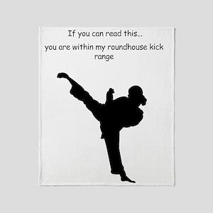 roundhouse kick Throw Blanket