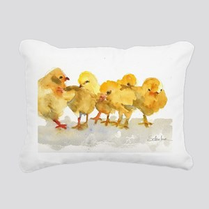 Baby Chicks Rectangular Canvas Pillow
