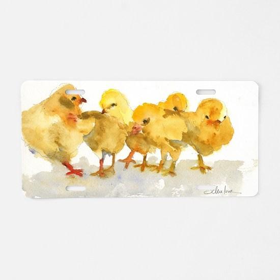 Baby Chicks Aluminum License Plate