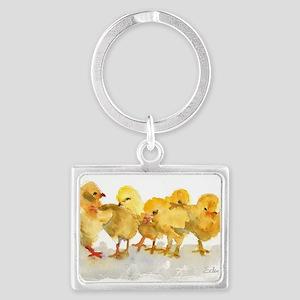 Baby Chicks Landscape Keychain