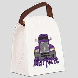 marjorie-g-trucker Canvas Lunch Bag