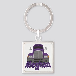 meghan-g-trucker Square Keychain