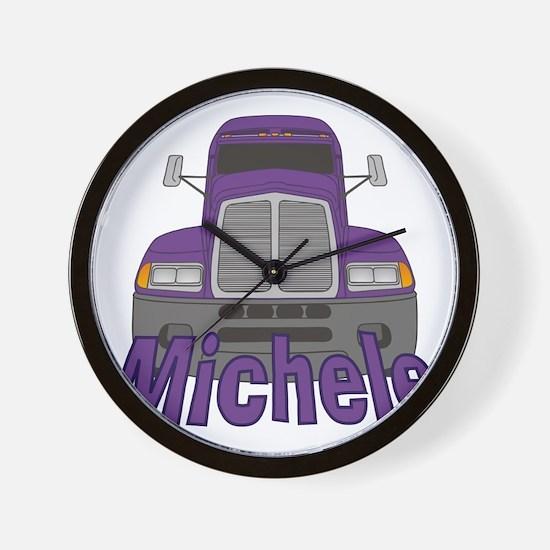 michele-g-trucker Wall Clock