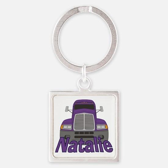 natalie-g-trucker Square Keychain