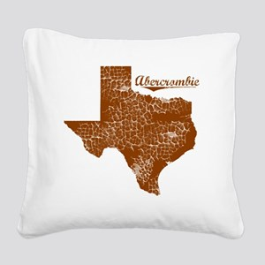 Abercrombie, Texas (Search An Square Canvas Pillow