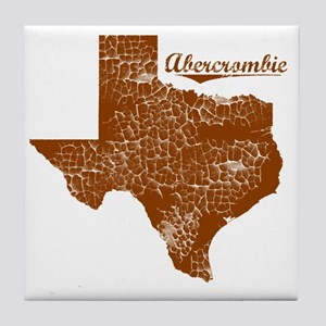 Abercrombie, Texas (Search Any City!) Tile Coaster